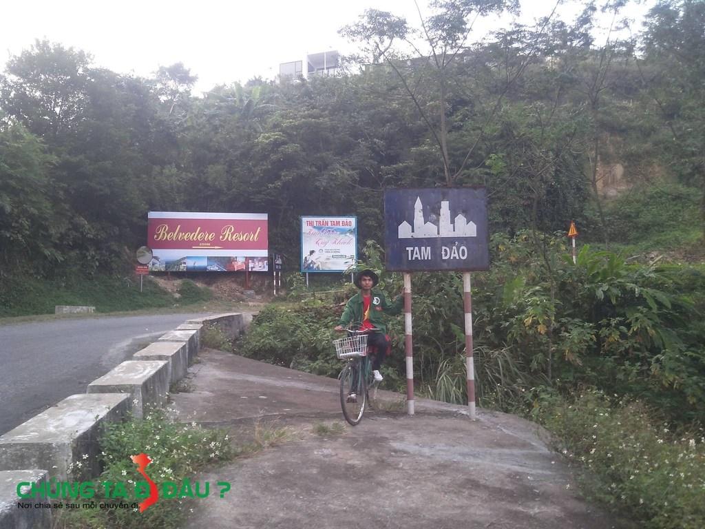 Chạm chân đến thị trấn Tam đảo