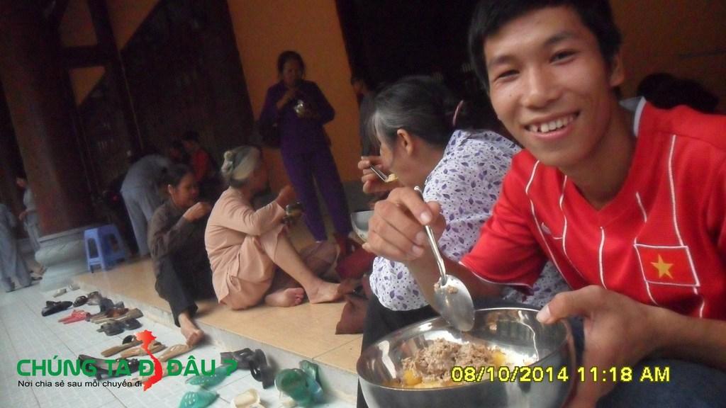 Ăn cơm tại Tây Thiên