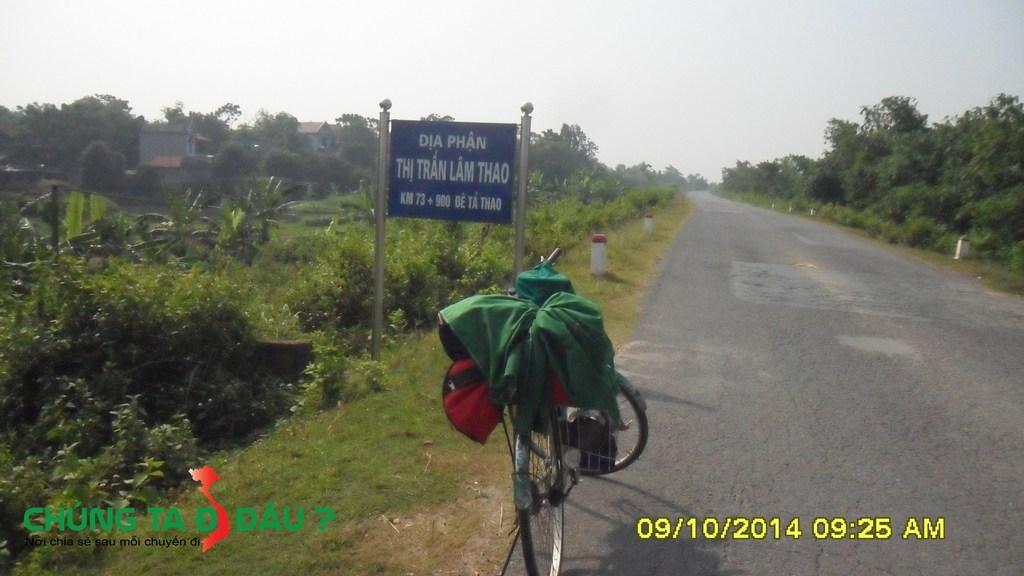 9h25p Đến địa phận thị trấn Lâm Thao
