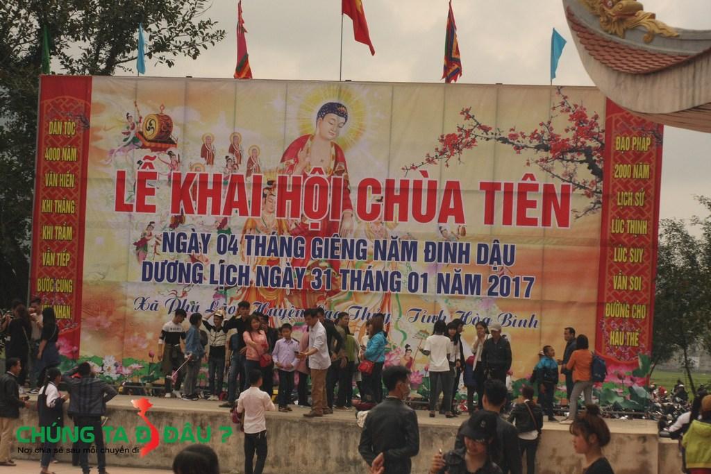 Lễ khai hội chùa Tiên vào ngày mồng 4 tết hàng năm