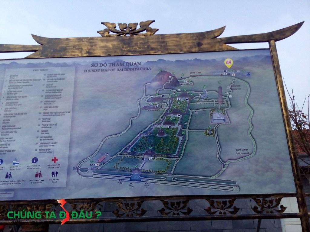 Bản đồ thăm quan chùa Bái Đính