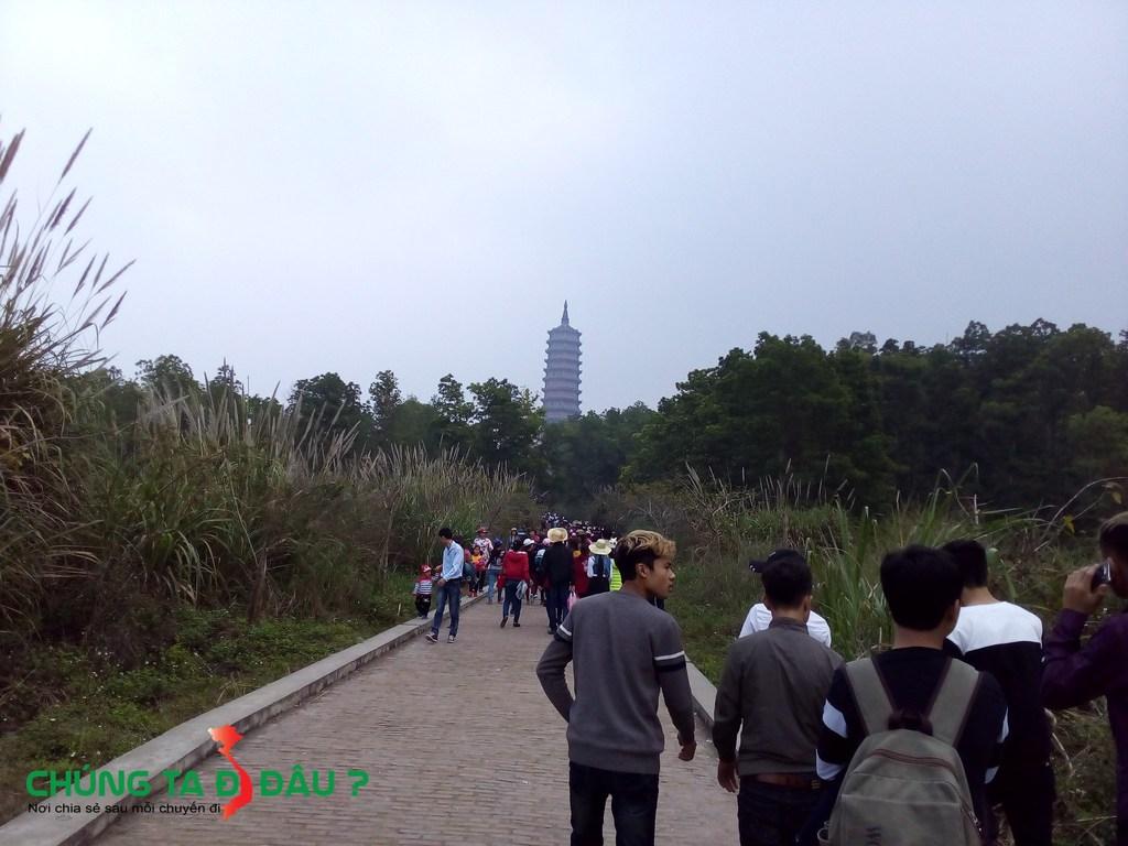 Đường bộ lên thẳng tháp Báo thiên