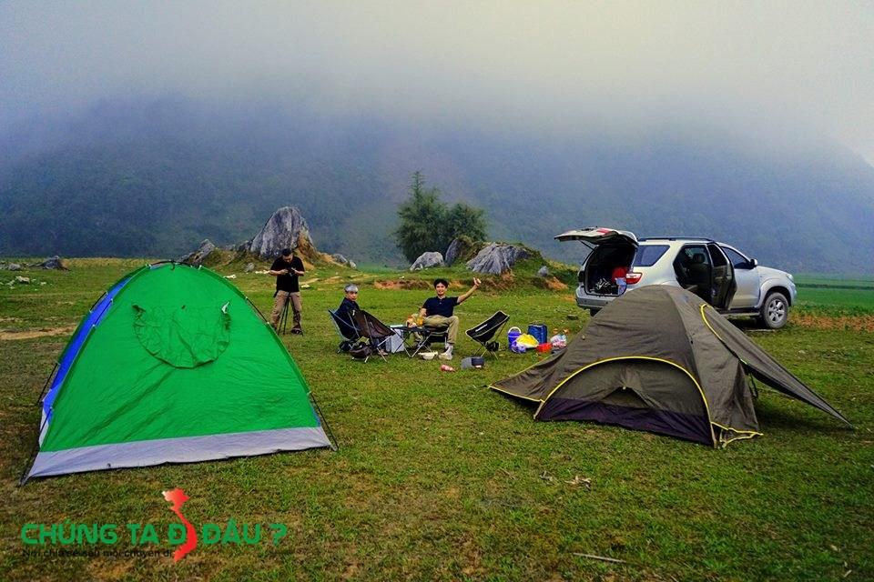 Cắm trại ở Lũng Vân