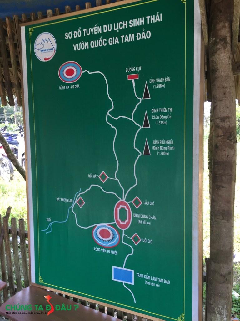 Bản đồ du lịch Tam Đảo