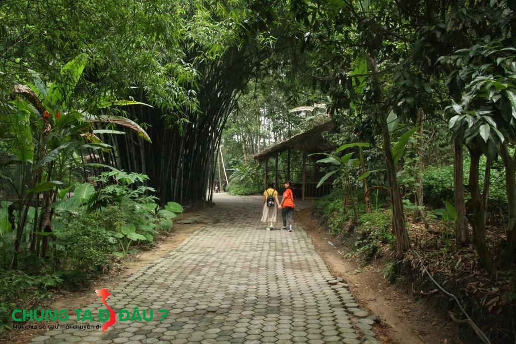 Đường vào 'Khu bảo tồn' rất thơ mộng và đậm chất 'Bản làng'