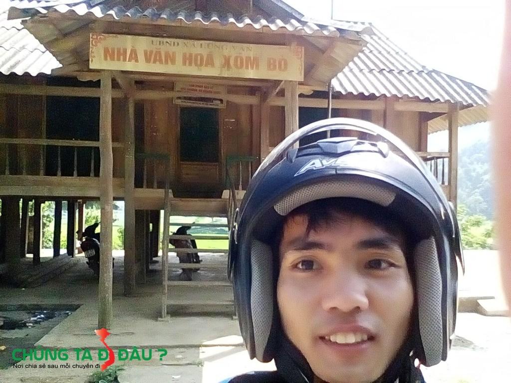 Nhà văn hoá Xóm Bò ở Lũng Vân