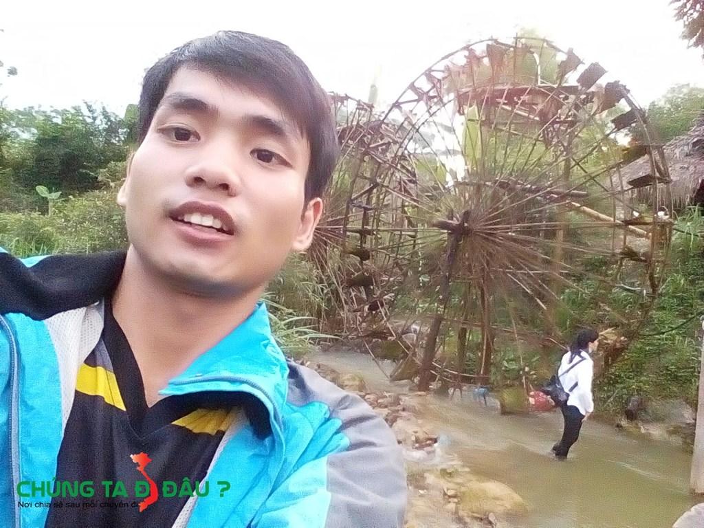 Bạn có thể dễ dàng bặt gặp những con quay nước này ở Pù Luông