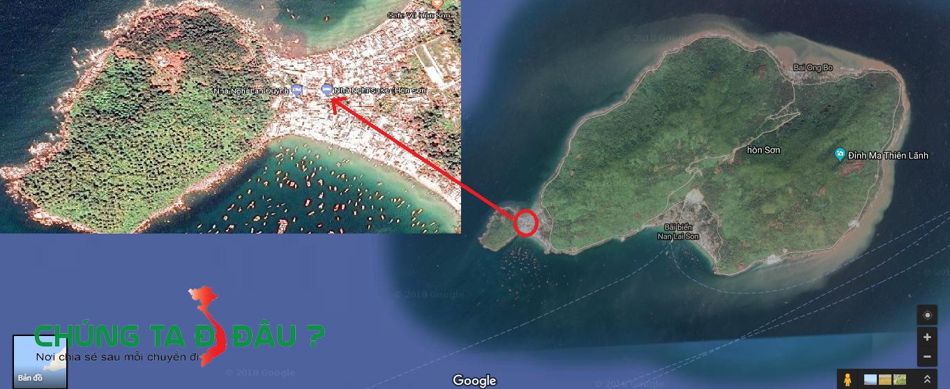Bản đồ nhà nghỉ Sake Hòn Sơn