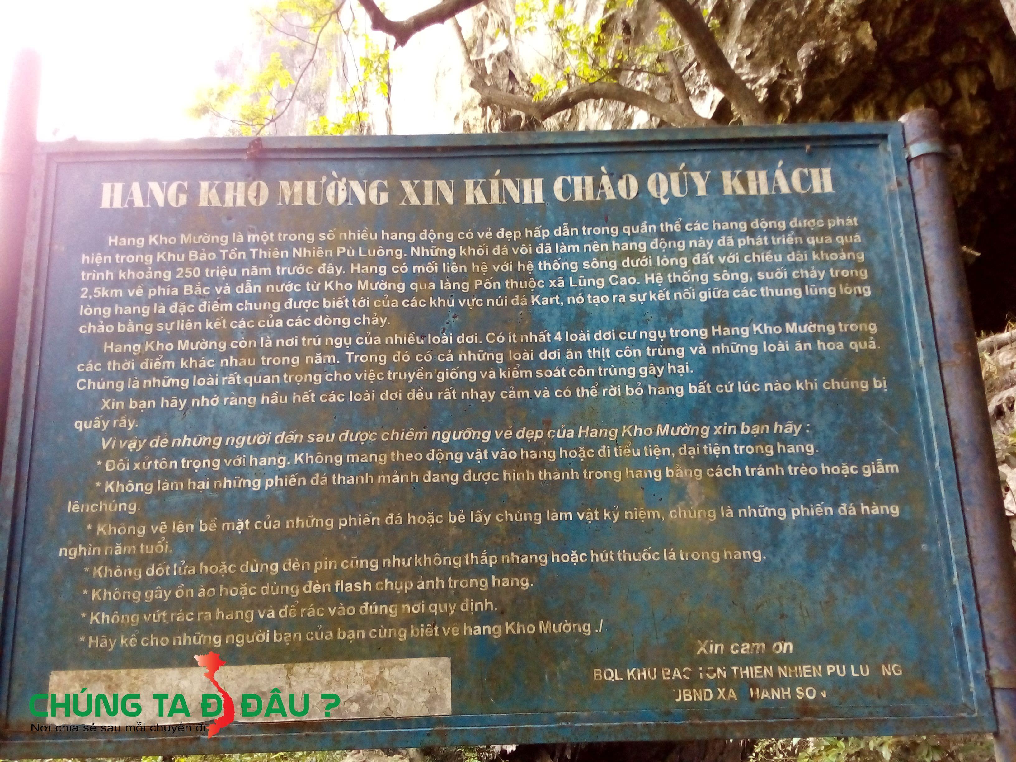 Thông tin về hang Dơi (hang Kho Mường)